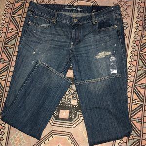 America Eagle distressed jeans